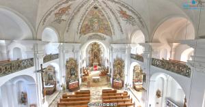 360° Panorama Rundgang durch die Pfarrkirche St. Ägidius in Vilseck