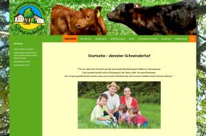 Neue Website – Demeter Schneinderhof