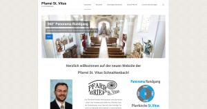 Neue Website mit 360° Panorama Rundgang – Pfarrei St. Vitus