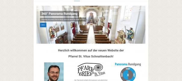 Neue Website - Pfarrei St. Vitus in Schnaittenbach
