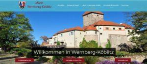 Neuerstellung der Website des Marktes Wernberg-Köblitz