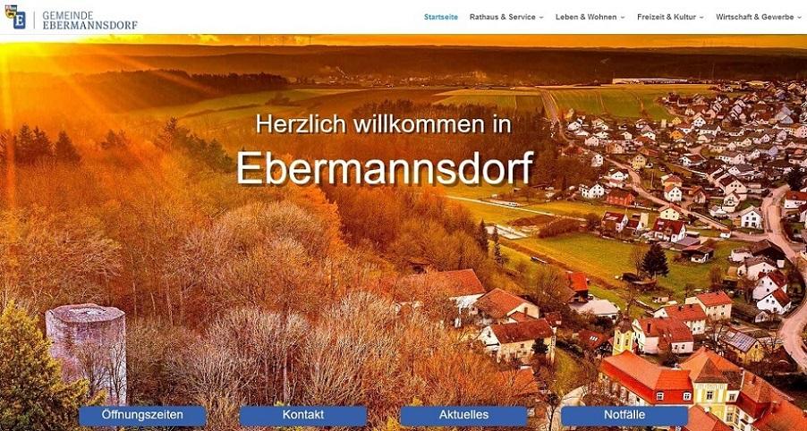 Neuer Webauftritt der Gemeinde Ebermannsdorf